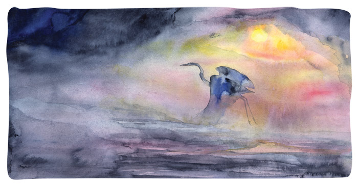 Heron Whisper by Rod MacIver