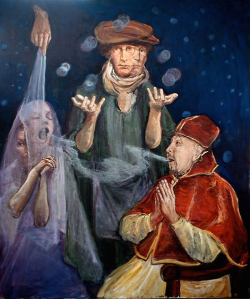 """The Metaphysician and Monsignor"" © Donald Langosy"