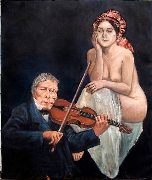 Ingres Serenades The Memory Of His Late Wife's Youth by Donald Langosy