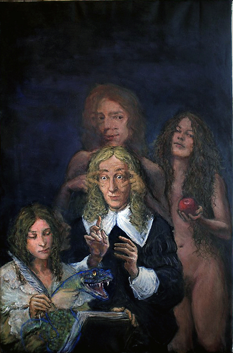 John Milton Composing Paradise Lost by Donald Langosy