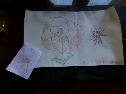 Art by Arwyn L., signed artwork sold to help her grandfather who has MS