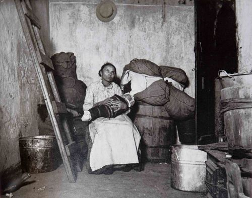 In the Home of an Itlaian Rag Picker, Jersey Street by Jacob Riis
