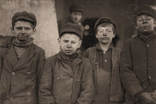 Hughestown Borough PA Coal Company Breaker Boys by Lewis Hine