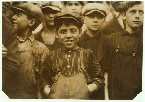 Spinning Boy by Lewis Hine