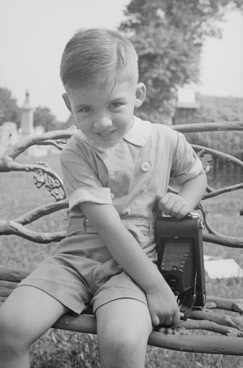 Joseph Jr. with Camera, photo by Joseph A. Horne.