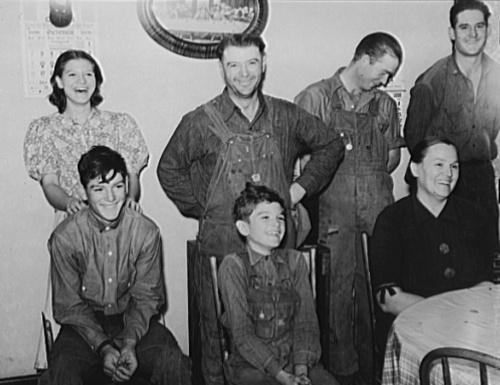 German-American farm family. Lincoln County, Nebraska by John Vachon, 1938.