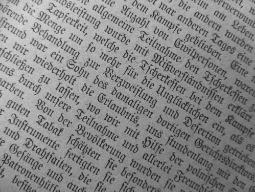Classic German Script from a Vintage Book of Fairy Tales
