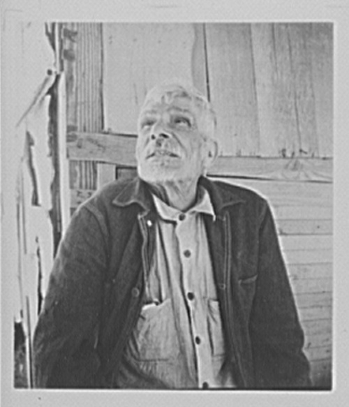 Imperial Valley, California, Mexican. He tells his story: he helped drive the French out of Mexico, fought against Maximilian, and he has, by serving the crops for many years, help build up Imperial Valley, photo by Dorothea Lange, 1935.