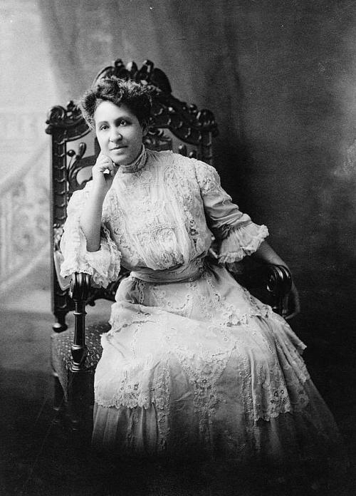 Suffragette Mary Church Terrell, daughter of former slaves, civil rights worker, suffragette, teacher