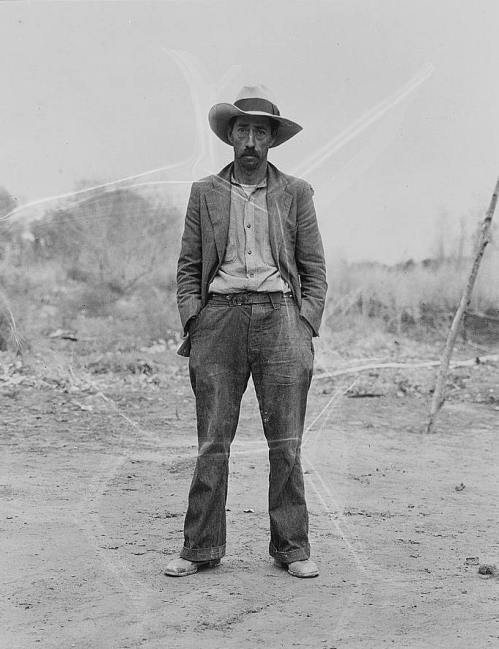 Mexican field worker, father of six. Imperial Valley, Riverside County, California, photo by Dorothea Lange, 1935.