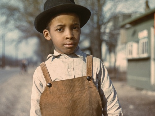 Negro boy near Cincinnati, Ohio, photo by John Vachon, 1942 or 1943.