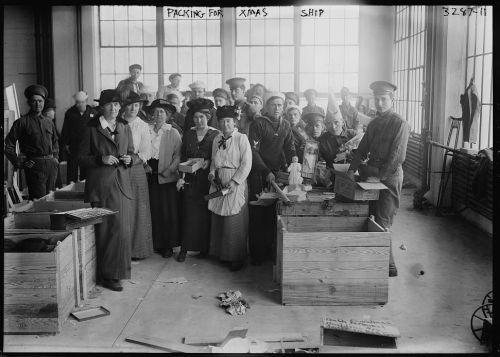 Packing for the Christmas Ship, November 1914