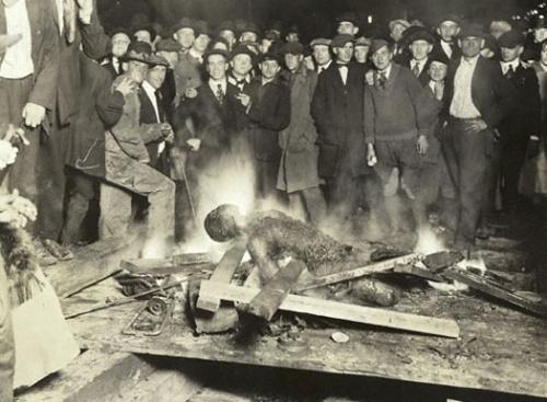 The burning of Will Brown's body, Omaha, Nebraska, Sept. 28, 1919. Source — NSHS, RG2281-69