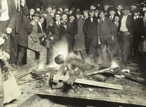 The burning of Will Brown's body, Omaha, Nebraska, Sept. 28, 1919. Source — NSHS, RG2281-69