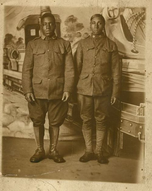 World War I Infantry Soldiers, photographed between 1914-1918, Library of Congress