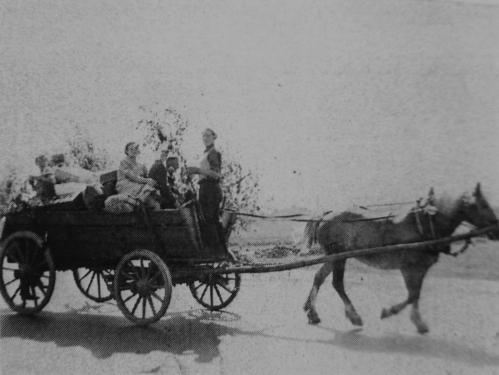 Frankfurt Vicinity, Germany. French family on Highway 8 returning home, by J. A. Horne
