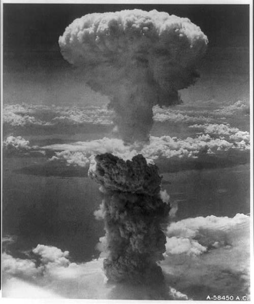 Nagasaki Under Atomic Bomb, 1945