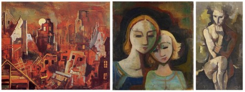carl hofer paintings, period 1947-1948