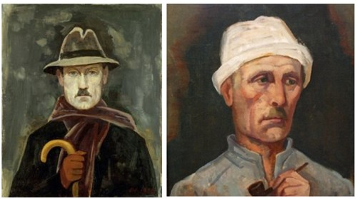 carl hofer self-portraits, spanning1920-1945