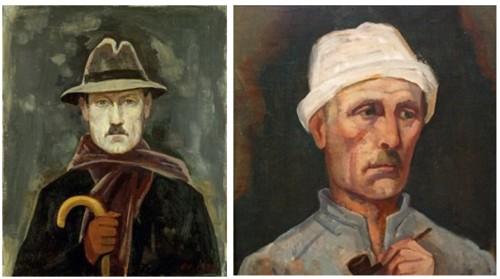carl hofer self-portraits, spanning1920-1945