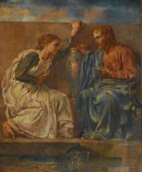 Christ Woman at Well, mural in Trinity Church by John La Farge