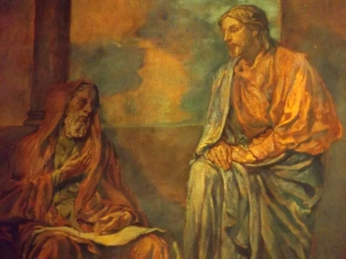 The Visit of Nicodemus to Christ, mural by John La Farge