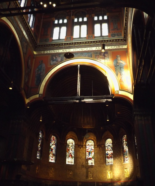 Interior of Trinity Church in the City of Boston, Copley Square