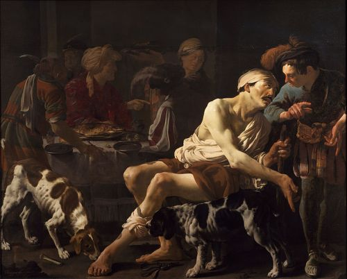 The Rich Man and the Poor Lazarus by Hendrick ter Brugghen, 1625