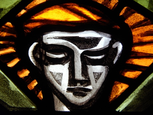Detail from St. Gabriel, by Patrick Pollen of Dublin