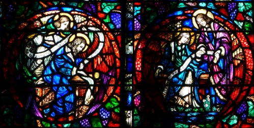 Detail from Evangelists Window, Trinity Church, 1927