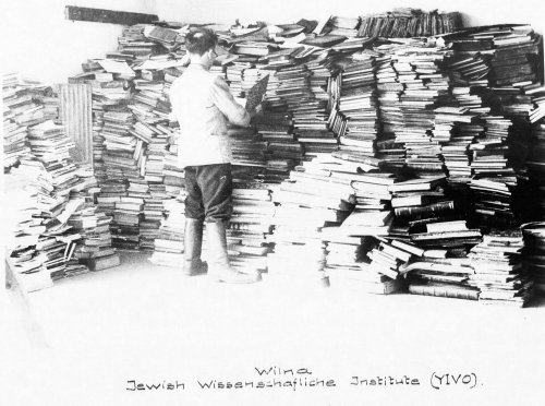 Vilna Library During German Occupation, in the files of the Offenbach Archival Depot