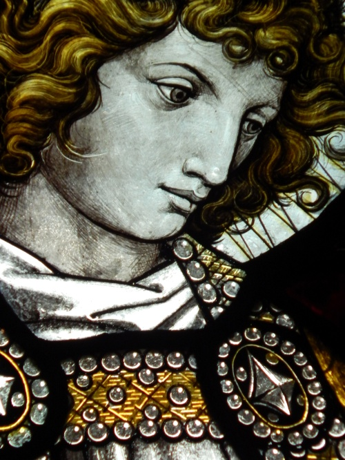 Detail from stained glass window, Hope, by Burlison & Grylls of Londong, 1877-1878