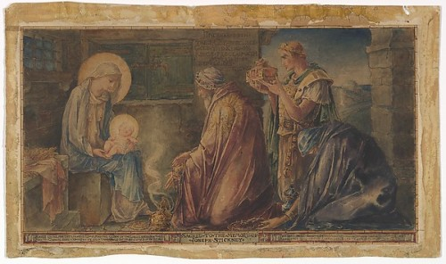 Nativity: Design for the Stickney Memorial Window, Faith Chapel, Jekyll Island, Georgia, Metropolitan Museum of Art