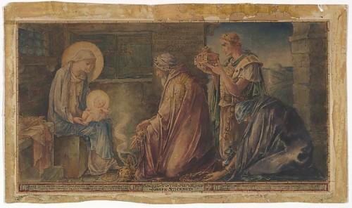 Nativity: Design for the Stickney Memorial Window, Faith Chapel, Jekyll Island, Georgia, Metropolitan Museum of Art