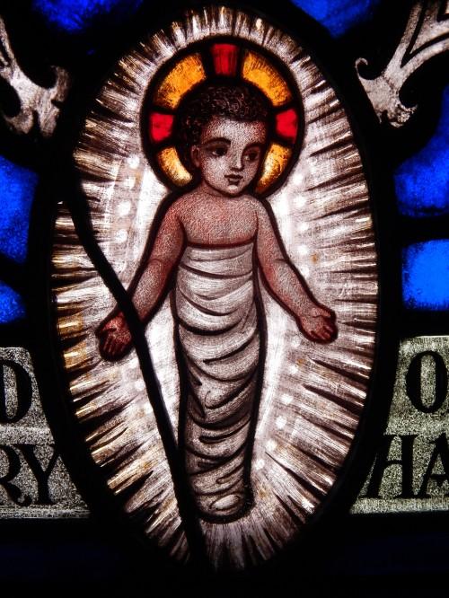 Detail from St. Anne Window designed by Burnham
