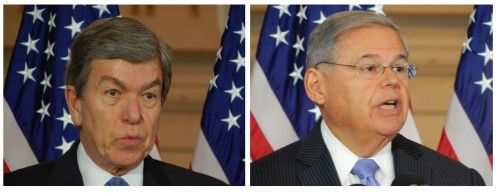 Sen. Roy Blunt (MI) and Sen. Robert Menendez (NJ)
