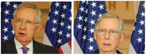 Harry Reid, Democratic Leader of the U.S. Senate and Mitch McConnell, Majority Leader of the U.S. Senate