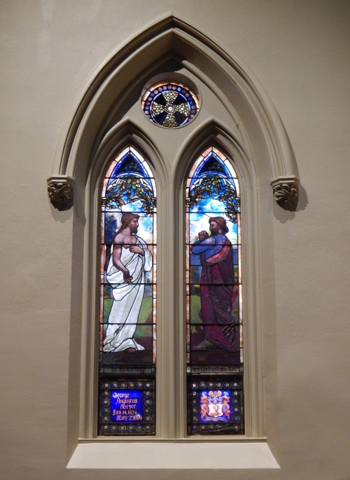 incredulity of st. thomas by tiffany glass & decorating, 1890