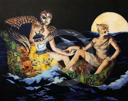 The Owl and the Pussycat Print by Zoe Langosy