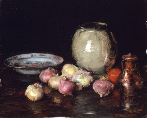 Just Onions by William Merritt Chase, 1912